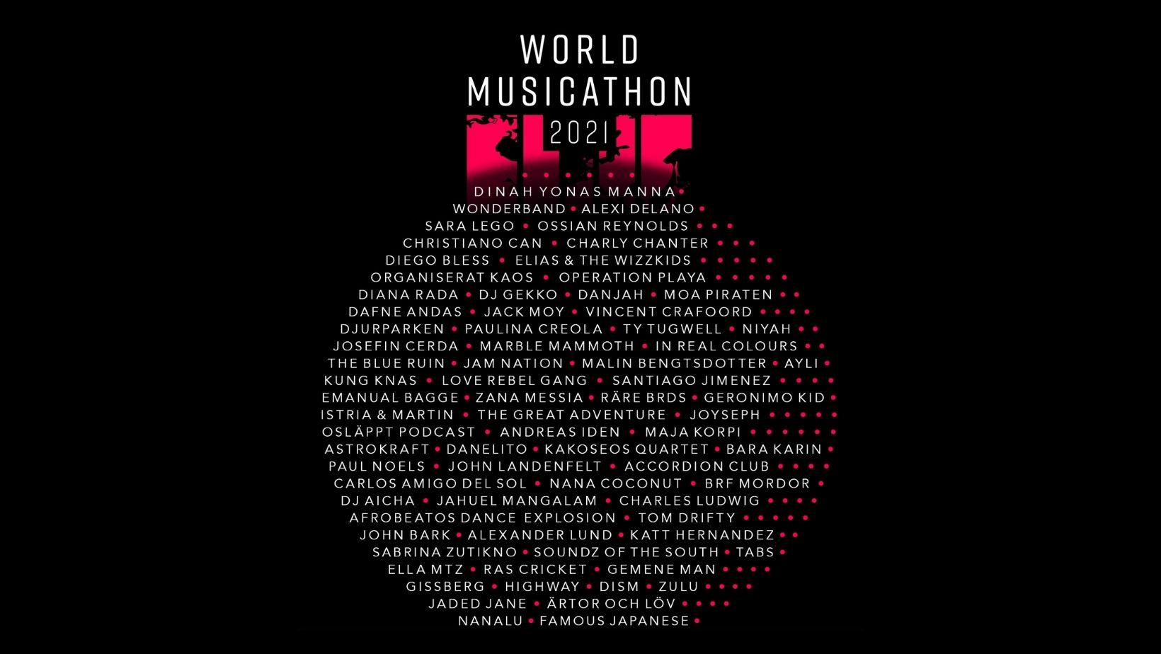 Kajsa Larsson at World Musicathon 2021 6 june 12pm